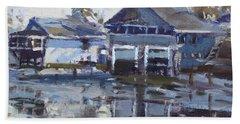 Boathouses By Icy Creek Beach Towel