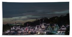 Boathouse Row Philly Pa Night Beach Towel