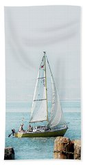 Boating On Lago Trasimeno Beach Towel