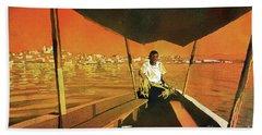 Boatman Guatemala Beach Sheet by Ryan Fox