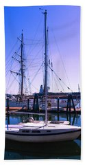 Boats And Ships Beach Towel