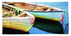 Boats Beach Towel by Andre Faubert