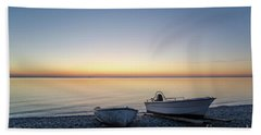 Beach Towel featuring the photograph Boats At A Colorful Bay by Kennerth and Birgitta Kullman