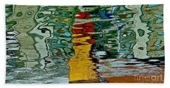 Boats In A Reflection Beach Towel