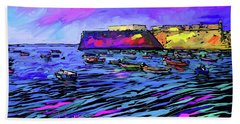 Boats In Cadiz, Spain Beach Sheet