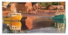 Boats In Kennebunkport Harbor Beach Towel