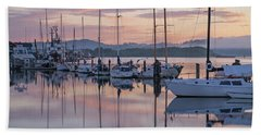 Boats In Pastel Beach Towel