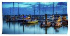 Boats In The Bay Beach Sheet