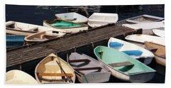 Boats In Waiting Beach Towel