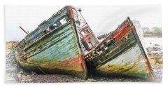Boats Isle Of Mull 4 Beach Towel