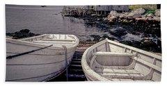 Boats Near Peggys Cove Beach Sheet