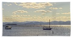 Boats On Lake Champlain Vermont Beach Towel