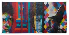 Bob Dylan Mural Minneapolis The Times They Are A Changin Beach Towel