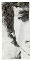 Bob Dylan Portrait 02 Beach Towel by Pablo Romero