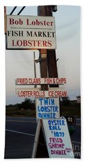 Bob Lobster Fish Market Beach Towel