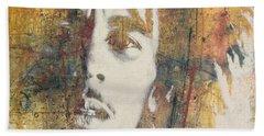 Bob Marley Art - Portrait Size  Beach Sheet