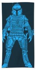 Boba Fett - Star Wars Art, Blue Beach Towel