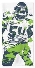 Bobby Wagner Seattle Seahawks Pixel Art 1 Beach Towel