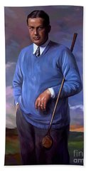 Beach Towel featuring the painting Bobbyjones-openchampion1926 Reproduction by Tim Gilliland
