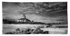 Beach Towel featuring the photograph Boca Grande Florida Bw by Marvin Spates