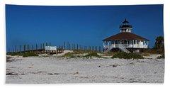Beach Towel featuring the photograph Boca Grande Lighthouse Ix by Michiale Schneider