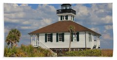 Boca Grande Lighthouse View Three Beach Towel by Rosalie Scanlon
