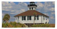 Boca Grande Lighthouse View Three Beach Sheet by Rosalie Scanlon