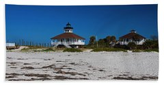 Beach Sheet featuring the photograph Boca Grande Lighthouse X by Michiale Schneider