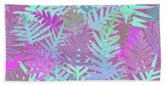Bodacious Ferns Mint Beach Towel