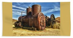 Old Boiler Bodie State Park Beach Towel
