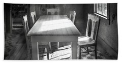 Bodie Breakfast Table Beach Sheet by Craig J Satterlee