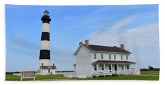 Bodie Island Lighthouse Beach Towel by Shelia Kempf