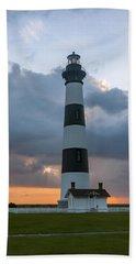 Bodie Island Lighthouse Sunset Beach Towel