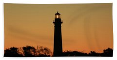 Bodie Light At Sunset Beach Towel