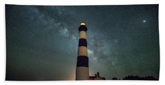 Bodie Lighthouse And Milky Way Beach Sheet