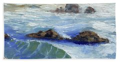 Bodiga Bay #2 Beach Towel by Randy Sprout