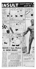 Body-building Ad, 1962 Beach Towel