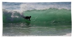 Body Surfer Beach Towel by Jim Gillen