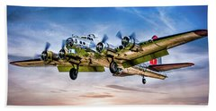 Beach Towel featuring the photograph Boeing B17g Flying Fortress Yankee Lady by Chris Lord