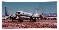 Boeing Hc-97g Statofreighter 52-2714 At Masdc April 24 1972 Beach Towel