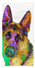 Bogart The Shepherd. Pet Series Beach Sheet