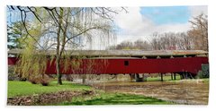 Bogert Covered Bridge Beach Towel