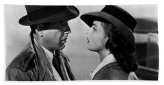 Bogey And Bergman Casablanca  1942 Beach Towel