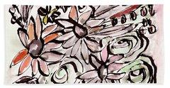 Bohemian Garden 2- Art By Linda Woods Beach Towel