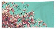 Boho Cherry Blossom 1- Art By Linda Woods Beach Towel