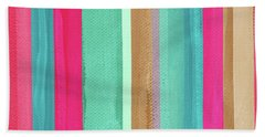 Boho Stripe- Art By Linda Woods Beach Towel