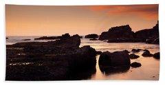Boiler Bay Sunset Beach Towel