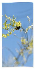 Bokeh Bee Beach Towel by Nikki McInnes