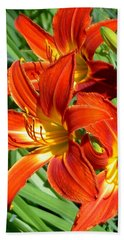Bold And Beautiful Lilies Beach Sheet