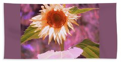 Super Star Sunflower - Sunflower Art From The Garden - Floral Photography Beach Towel